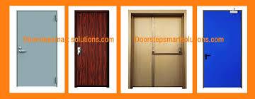 Fire rated wood door penetration