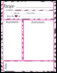 Recipe Blank Template Blank Cookbook Template Printable Blank Recipe Pages Book Template