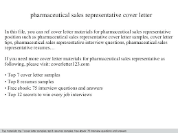 Pharmaceutical Representative Cover Letter Patient Service