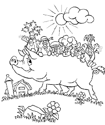 Small Picture Free Printable Farm Animal Coloring Pages For Kids farm animal