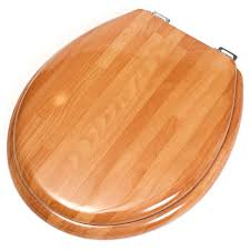 imperial wooden toilet seat cover compressed wood 17 x 15 x 1 5 natural in home kitchen