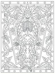 Day Of The Dead Skulls Coloring Pages Day Of The Dead Coloring Pages