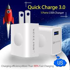 iphone quick charge. [qualcomm certified] voxlink quick charge 3.0 usb full 18w fast travel charger for iphone iphone o