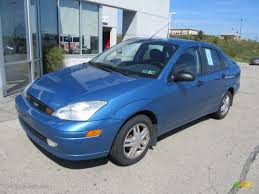 Light Sapphire Blue Metallic 2001 Ford Focus SE Sedan Exterior ...