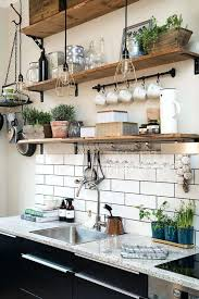 kitchen wall storage ideas wooden open shelves on black brackets ikea kitchen wall storage ideas