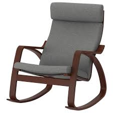 POÄNG <b>Rocking</b>-<b>chair</b> - <b>brown</b>/Lysed grey - IKEA