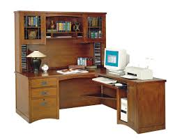 image of bungalow corner desk with hutch and storage