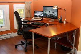 home office computer workstation. Elegant Ergonomic Computer Desk Marvelous Office Furniture Plans With Home Dual Monitor Desks Ergonomics Workstation HomeGrown Decor