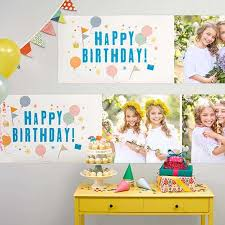 custom happy birthday banner photo banners create custom photo banners walgreens photo