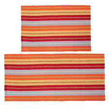 cotton area rugs set of 2 shacos throw rugs cotton woven runners rugs for living room entry way machine washable 2x3 2x4 4 red stripe