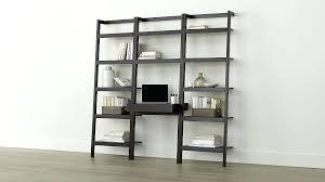 ladder desk and bookcase sawyer mocha leaning desk with two bookcases ladder shelf desk uk ladder desk