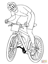 coloring pages bikes. Simple Coloring Mountain Biker Intended Coloring Pages Bikes Y