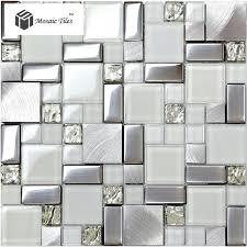 bathroom and kitchen tile. tst glass metal tile frosted silver steel glitter bathroom deco art mosaics backsplash in kitchen and