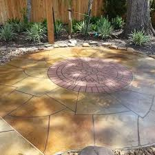 stamped concrete patio with fire pit cost. Intermediate Designs ($12-$18 Per Square Foot) Stamped Concrete Patio With Fire Pit Cost S