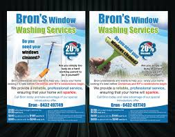33 professional flyer designs for a business in flyer design design 2777756 submitted to window cleaning leaflet closed