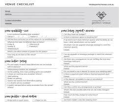 bridal checklist free printable wedding venue checklist