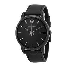 emporio armani classic black dial men s watch ar1732