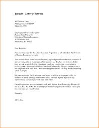 Letter Of Employment Samples Job Letter Of Interest Template 6 Letter Of Interest Samples Mac