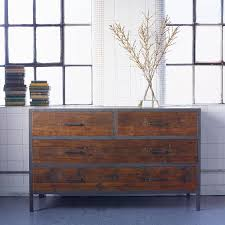 industrial look furniture. lombok baxter square industrial four drawer chest from look furniture