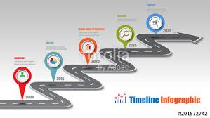 Business Road Map Timeline Infographic Template With Pointers