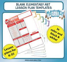 Elementary Art Lesson Plans Blank Elementary Art Lesson Plan Templates