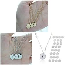 Jewelry for Gift <b>Pcs Round</b> Necklace Pendant Family <b>1 Letters</b> ...