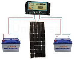 150w 12 volt dual battery solar panel charging kit for motorhome connection diagram for 150w 12v photonic universe dual battery solar charging kit