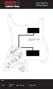 amazon com 920d 3 way wiring harness fender stratocaster strat hh Fender Telecaster 3-Way Wiring Diagram at Fender Strat 3 Way Switch Wiring Diagram