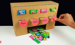 Vending Machine Science Project Simple How To Make MULTI Chewing Gum Vending Machine From Cardboard At Home