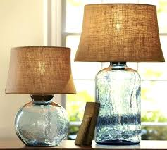 glass table lamps colored glass table lamps from pottery barn collection blue glass table lamp canada