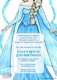 Frozen Birthday Invitations Elsa Frozen Birthday Party Invitation Original Poem