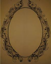 oval filigree frame tattoo. Black And Grey Frame Tattoo Design Oval Filigree A