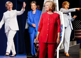 hillary clinton supporters wore pantsuits to the polls 161108 dx hillary pantsuit fb