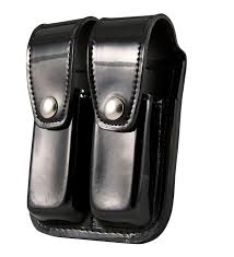 Double Magazine Pouch With Handcuff Holder Leather Double Mag Pouch 100mm100 Cal 30