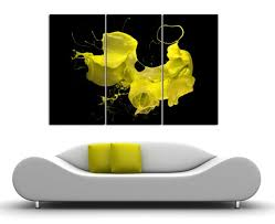 Modern Home Office Design New 48 Panel Canvas Paint Splash Split Abstract Canvas Print Etsy