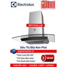 Máy hút mùi nhà bếp dạng kính cong 90cm Electrolux EFC936GAR sản xuất Trung  Quốc
