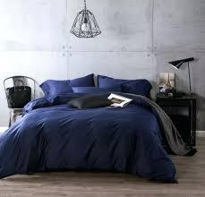 luxury navy blue cotton bedding sets sheets bedspreads king size queen duvet cover bed in a navy blue and white ing comforter