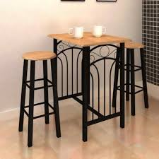 Rectangular <b>Breakfast Dinner Table</b> and 2 Chairs Modern <b>Dining</b> ...