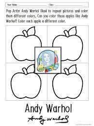 Andy Warhol Coloring Sheets Art Printables Coloring Sheets