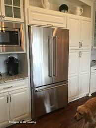 french door refrigerator in kitchen. New Kitchen Aid French Door Counter Depth Refrigerator In F
