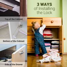 Child Safety For Cabinets Amazoncom Magnetic Baby Safety Locks For Cabinets Drawers