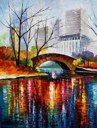 central park new york print canvas by leonid afremov size
