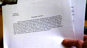 essay about rosa parks hsd osp susan richmond all elementary ela  this horrible essay on rosa parks says a lot about college this horrible essay on rosa