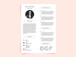Free Curriculum Vitae Template With Miass Resume