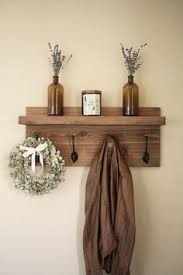 Wooden Coat Rack Wall Mounted Shelf Coat Rack with Floating Shelf Wall mounted coat rack Rustic walls 47