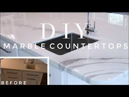 diy marble countertop transformation how to