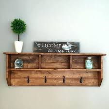 wood coat racks wall mounted rustic rack with shelf new gray polished wooden fantastic reclaimed w