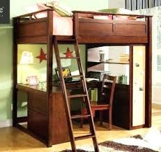 Full Image for Twin Wood Loft Bunk Bed With Computer Desk Workstation Combo  Full Size High ...