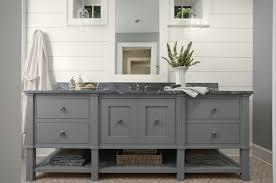 Grey Bathroom Vanity Cottage bathroom Murphy Co Design
