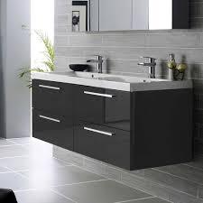 cheap sink vanity units. hudson reed quartet double basin vanity unit - gloss black (1440mm wide) medium image cheap sink units i
